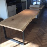 Stand alone keuken tafel van eikenhout