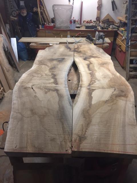Frans noten houten tafelblad